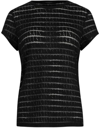 AllSaints Bela Devore Striped T-Shirt