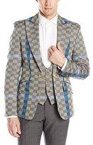 Vivienne Westwood Men's Basket Weave Check Waistcoat Jacket