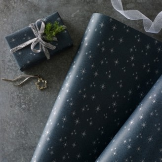 The White Company Starry Night Wrapping Paper 5m, Navy, One Size