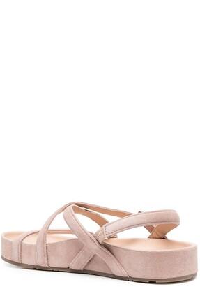 Pedro Garcia Crossover-Strap Buckled Sandals