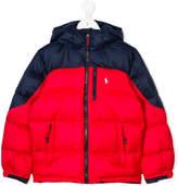 Ralph Lauren color block padded jacket