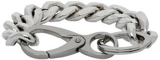 Martine Ali Silver Cuban Link Bracelet