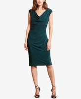 Lauren Ralph Lauren Petite Cowl-Neck Jersey Dress