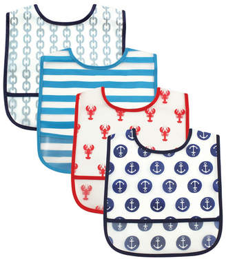 Luvable Friends Waterproof Bibs, 4-Pack, One Size