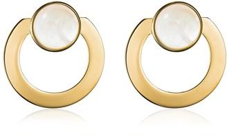 Vita Fede Moneta Open Mother Of Pearl Earrings