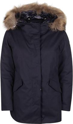 Woolrich Navy Blue Padded Parka Jacket