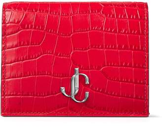 Jimmy Choo Croc-Embossed Leather Hanne Wallet