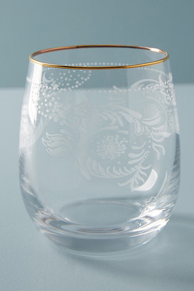 Anthropologie Sante Stemless Wine Glass By in Clear Size WINE GLASS
