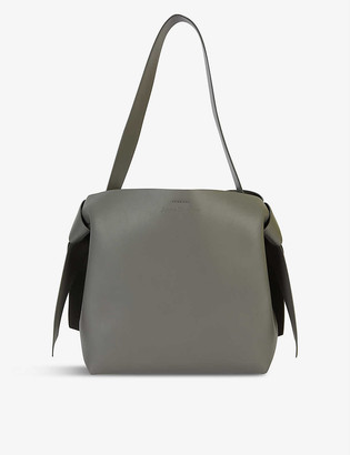 Acne Studios Womens Dark Grey Musubi Midi Leather Tote bag