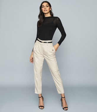 Reiss BROOKLYN POCKET FRONT TAPERED TROUSERS Neutral