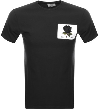 Kent And Curwen Rose Patch Icon T Shirt Black
