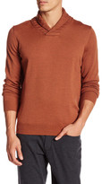 Thomas Dean Shawl Collar Wool Sweater