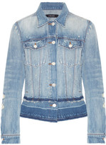 J Brand Deena Distressed Denim Jacket - Mid denim