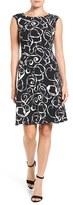 Anne Klein Women's Mercury Crepe Fit & Flare Dress