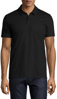 BOSS Structured Stripe Polo Shirt, Black