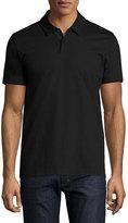 HUGO BOSS Structured Stripe Polo Shirt, Black