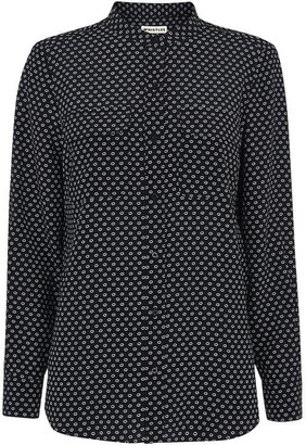 Whistles Circle Spot Print Silk Blouse