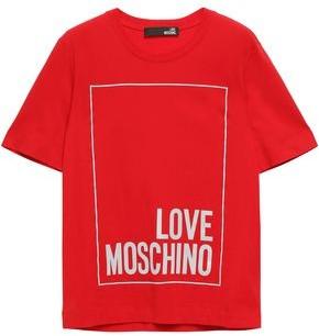 Love Moschino Printed Cotton-jersey T-shirt