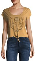 Chaser Bengal Tiger Tie-Front Tee