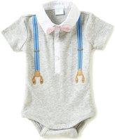 Edgehill Collection Baby Boys Newborn-6 Months Faux-Suspender Bodysuit