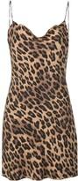 Alice + Olivia Alice+Olivia Harmony leopard slip dress