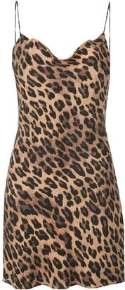 Alice + Olivia Harmony leopard slip dress
