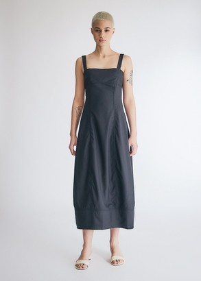 LVIR Women's Natural Cutting Stich Dress in Navy, Size 36   Wool