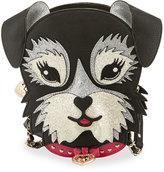 Betsey Johnson Kitsch Fritzy Dog Crossbody Bag, Black