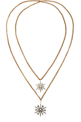 Toni + Chloã« Goutal Toni + ChloA Goutal Ava One-Of-A-Kind Antique Gold And Diamond Double Necklace