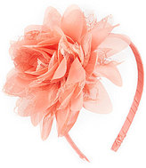 Copper Key Lace Chiffon-Flowers Satin Headband