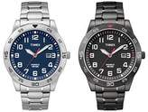 Timex Men's Fieldstone Way | Stainless Steel Band Date Indiglo | Dress Watch