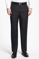 Santorelli Men's Luxury Flat Front Wool Trousers