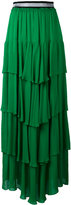 Just Cavalli - ruffled maxi skirt -