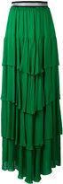 Just Cavalli ruffled maxi skirt