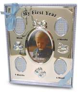 Baby Essentials First Year Frame Silver and Blue (Discontinued by Manufacturer)