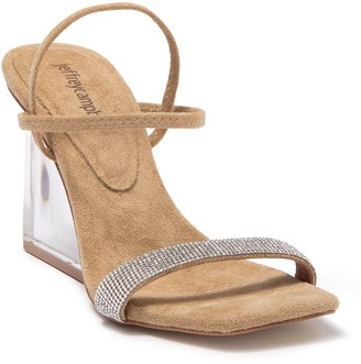Jeffrey Campbell Embellished Clear Wedge Sandal