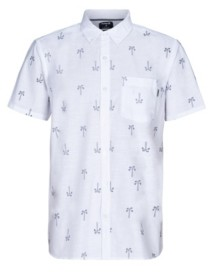 Hurley Men's One and Only Paisley Palm Short Sleeve Shirt