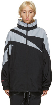Misbhv Black and Grey Reebok Edition Windbreaker Jacket