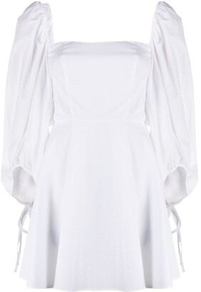 FEDERICA TOSI Draped-Sleeve Flared Dress