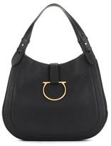 Salvatore Ferragamo Perrine Leather Hobo Bag
