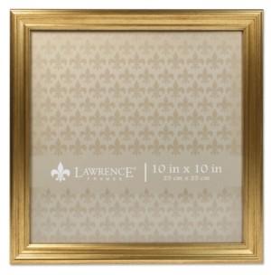 """Lawrence Frames Sutter Burnished Gold Picture Frame - 10"""" x 10"""""""