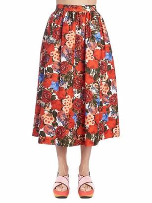 Marni Flowery Flare Skirt