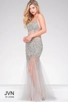 Jovani Sheer Prom Dress With Crystal Embellishments Jvn24736