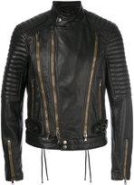 Diesel Black Gold Lory biker jacket - men - Leather/Polyester/Viscose - 46