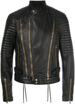 Diesel Black Gold Lory biker jacket - men - Leather/Polyester/Viscose - 48