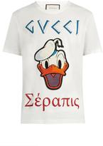 Gucci Donald Duck©-appliqué cotton T-shirt