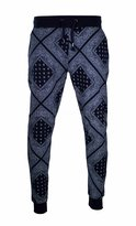 Trending Apparel Men Bandana Joggers Pants Elastic Drawstrings Fleece Size S-3XL (XL, )