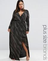 Club L Plus Maxi Dress In Galaxy Glitter Fabric