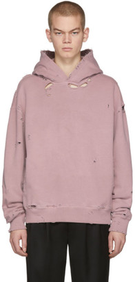 C2H4 Pink Agitator Distressed Hoodie