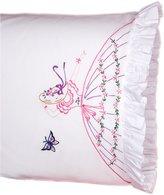 Fairway Needlecraft 82525 Vintage Ruffled Edge Pillowcases, Design, Size, White